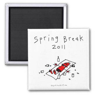 Vacaciones de primavera 2011 imán para frigorífico