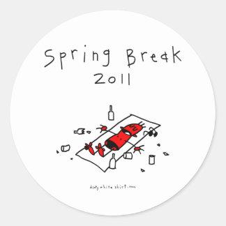 Vacaciones de primavera 2011 pegatinas redondas