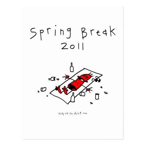 Vacaciones de primavera 2011 postal