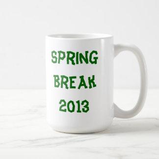 Vacaciones de primavera 2013 taza básica blanca
