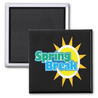 Vacaciones de primavera 4 imán cuadrado