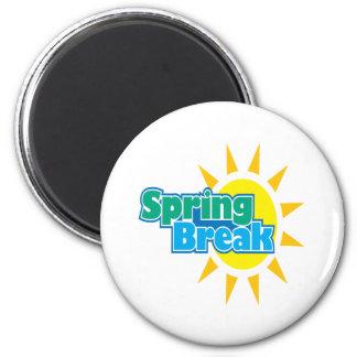 Vacaciones de primavera 4 imán redondo 5 cm