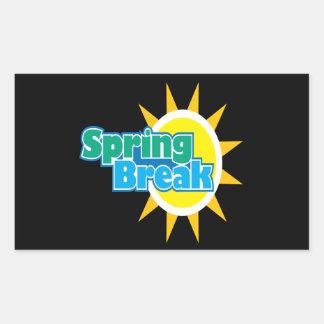 Vacaciones de primavera 4 rectangular pegatinas