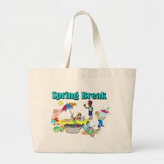 Vacaciones de primavera bolsa de mano