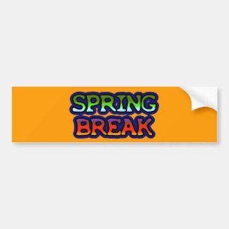 Vacaciones de primavera pegatina para auto