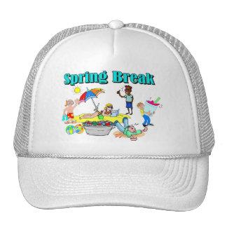 Vacaciones de primavera gorros bordados