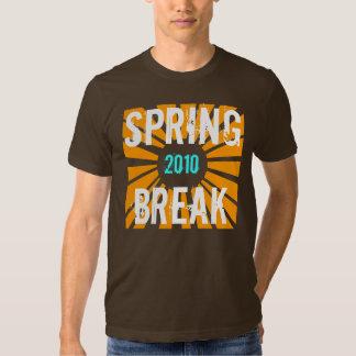 Vacaciones de primavera gráfico de 2010 Sun Playeras