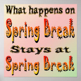 Vacaciones de primavera qué sucede poster