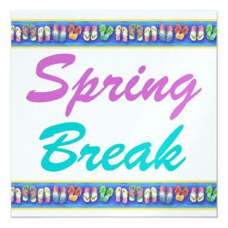 """Vacaciones de primavera - SRF Invitación 5.25"""" X 5.25"""""""
