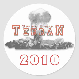 Vacaciones de primavera Teherán bomba nuclear ar Pegatinas Redondas