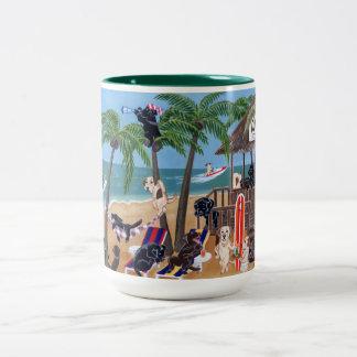 Vacaciones de verano de la isla Labradors Tazas De Café