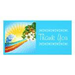 Vacaciones de verano exóticas tropicales tarjeta fotográfica personalizada