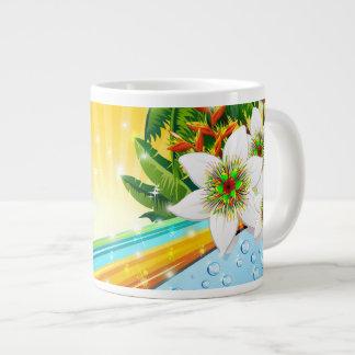 Vacaciones de verano exóticas tropicales taza grande