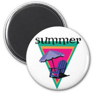 Vacaciones de verano imán redondo 5 cm