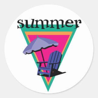 Vacaciones de verano pegatina redonda