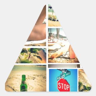 Vacaciones de verano pegatina triangular