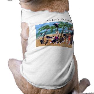 Vacaciones de verano personalizadas de la isla Lab Playera Sin Mangas Para Perro