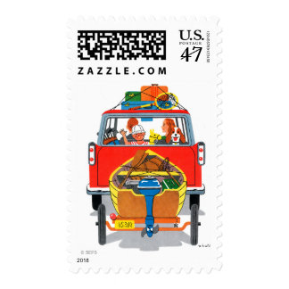 Vacaciones de verano sello postal