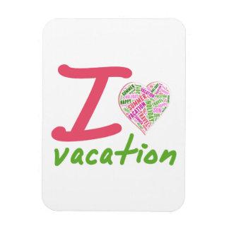 Vacaciones del amor iman rectangular