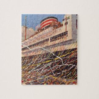 Vacaciones del barco de cruceros del vintage ¡Fie Puzzle
