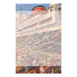 Vacaciones del barco de cruceros del vintage; papeleria