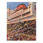 Vacaciones del barco de cruceros del vintage; postales
