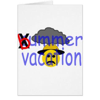 vacaciones del bummer felicitación