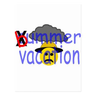 vacaciones del bummer tarjeta postal