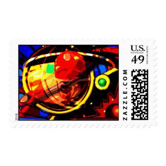 Vacaciones del espacio de los labios sellos postales