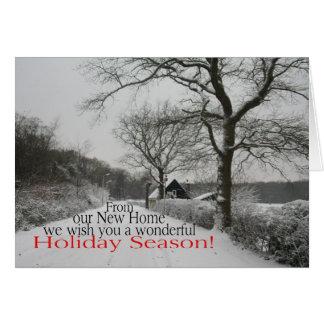 Vacaciones del nuevo hogar - nueva dirección tarjeta de felicitación