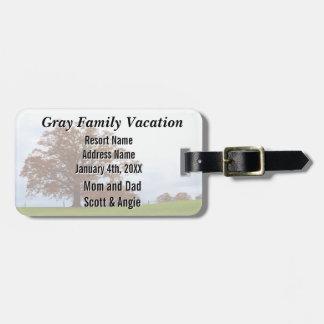 Vacaciones del otoño de la familia personalizadas etiqueta para maleta