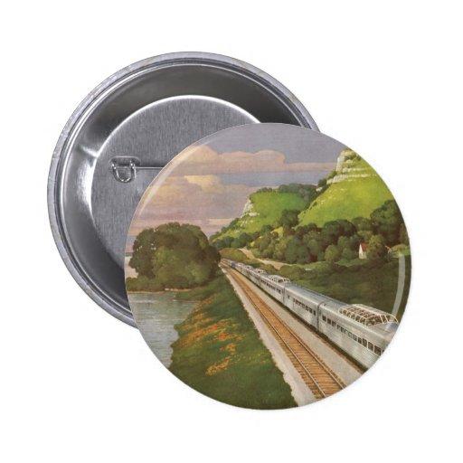 Vacaciones del vintage en tren, locomotora en país
