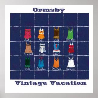 Vacaciones del vintage - poster