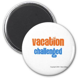 Vacaciones desafiadas imanes