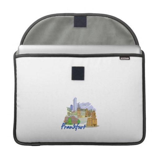 vacaciones design.png del viaje de la ciudad de Fr Funda Para Macbook Pro