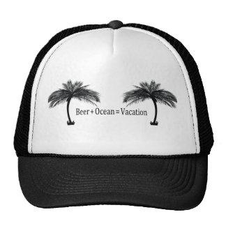vacaciones en la playa gorras de camionero