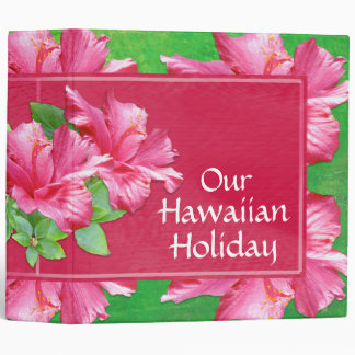 """Vacaciones hawaianas hibisco del rosa de la carpeta 2"""""""