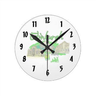 vacaciones image.png del viaje del verde de la ciu reloj redondo mediano