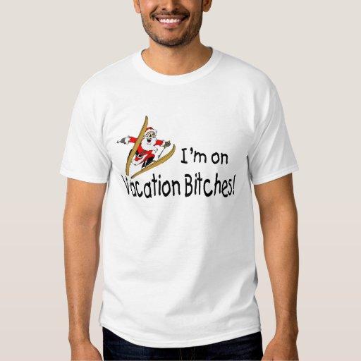 Vacaciones Papá Noel del esquí Playera