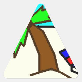 Vacaciones Pegatina Triangular