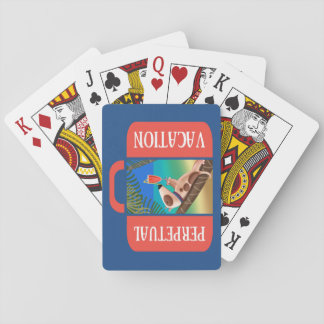 Vacaciones perpetuas cartas de póquer