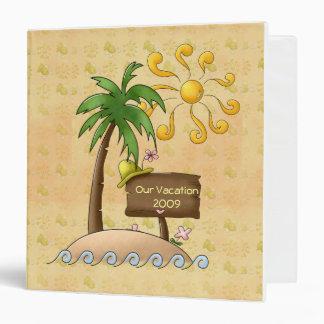 """Vacaciones tropicales de la isla carpeta 1 1/2"""""""