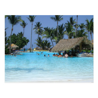 Vacaciones tropicales de la piscina postales