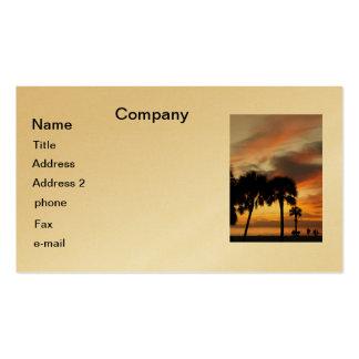 Vacaciones tropicales tarjeta de visita