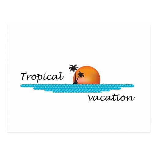 Vacaciones tropicales tarjeta postal