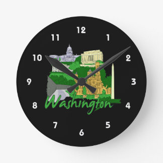 vacaciones verdes del viaje de la ciudad de la C C Relojes De Pared