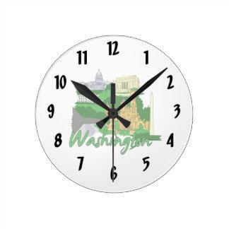 vacaciones verdes del viaje de la ciudad de la C C Reloj