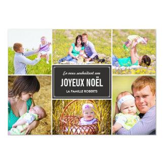 """Vacances de style de cartes de photo del collage invitación 5"""" x 7"""""""