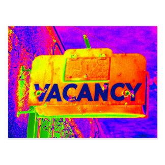 Vacancy Hotel Sign Postcards