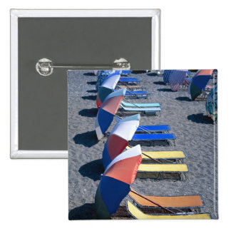 Vacant Chairs On Beach Pinback Button